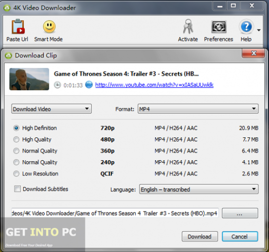 4k Video Downloader Offline Installer Download