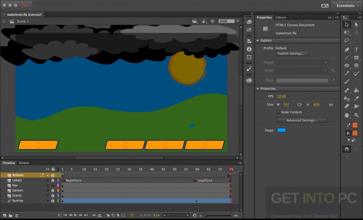 Adobe Animate CC 2017 64 Bit Latest Version Download