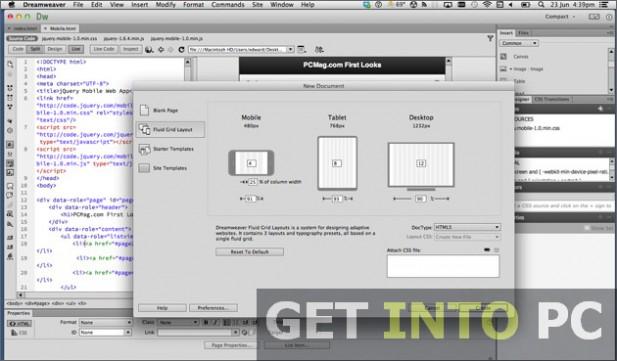 Adobe Dreamweaver CC Setup Free Download