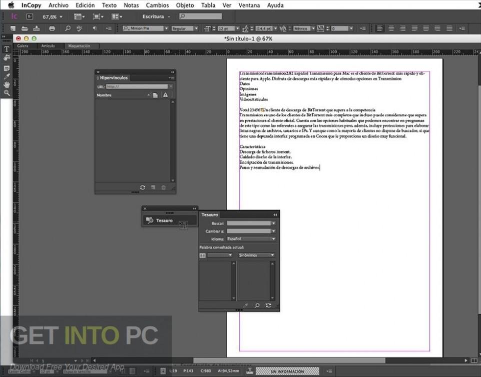 Adobe InCopy CC 2019 Offline Installer Download-GetintoPC.com