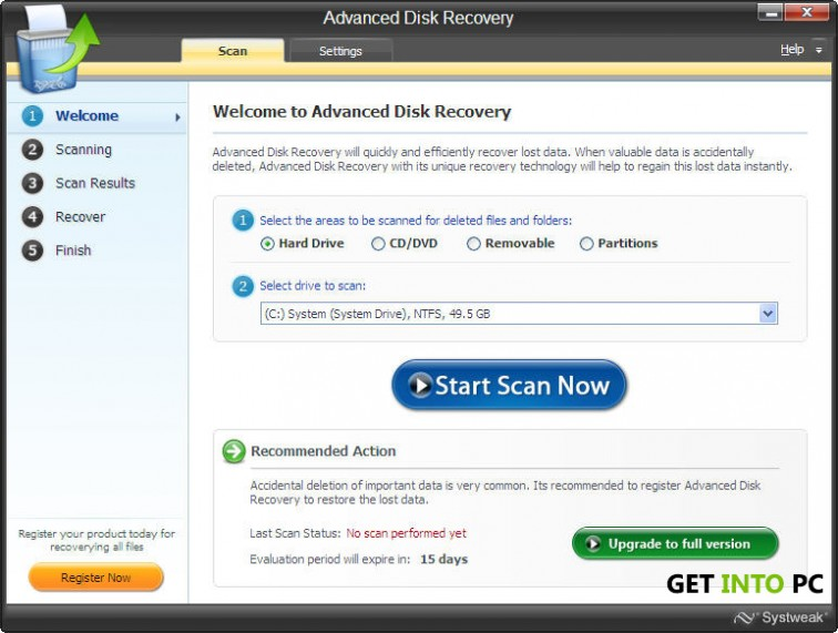 Advanced disk recovery features