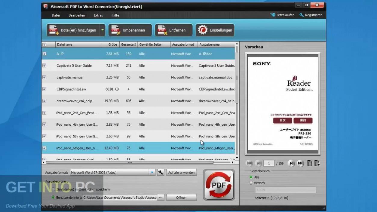 Aiseesoft PDF to Word Converter Offline Installer Download