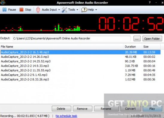Apowersoft Streaming Audio Recorder Download For Free