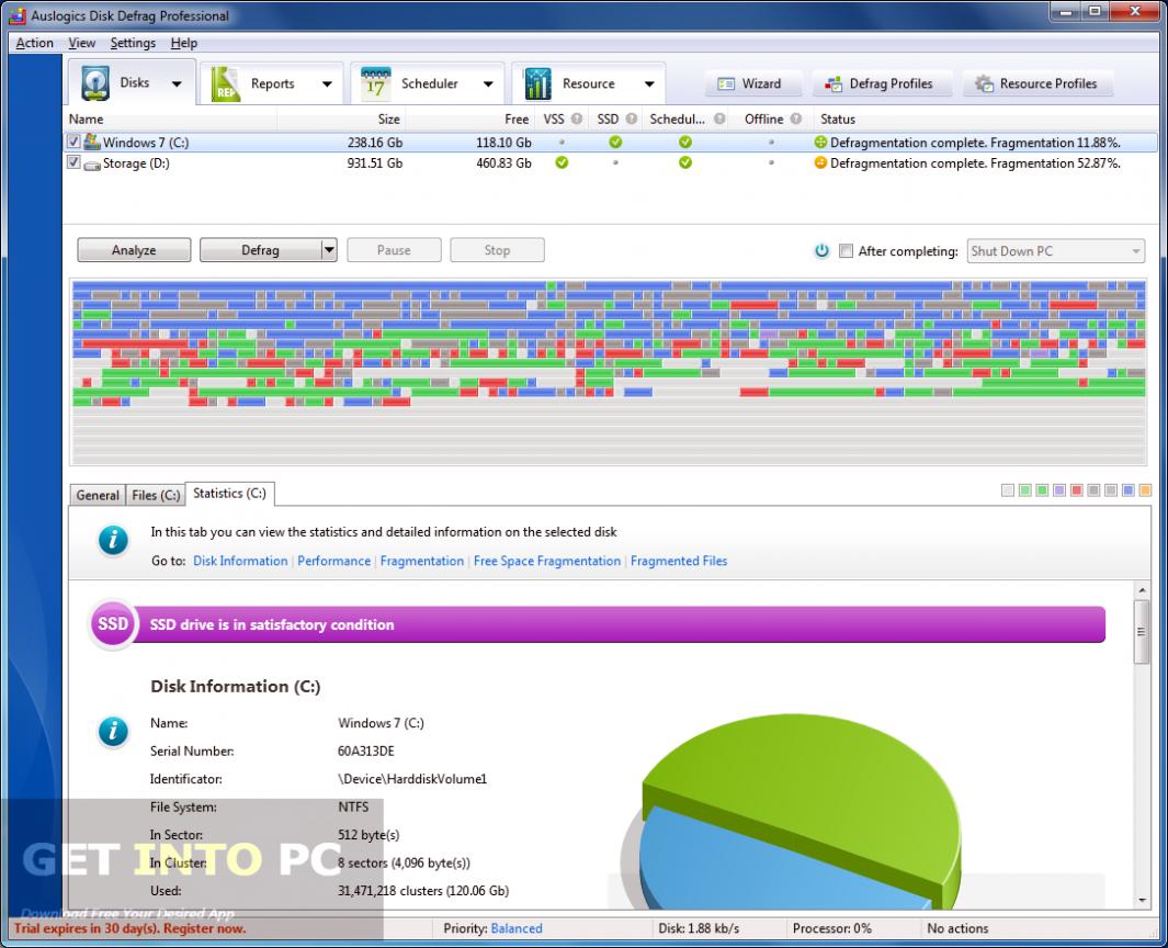 Auslogics Disk Defrag Pro Direct Link Download