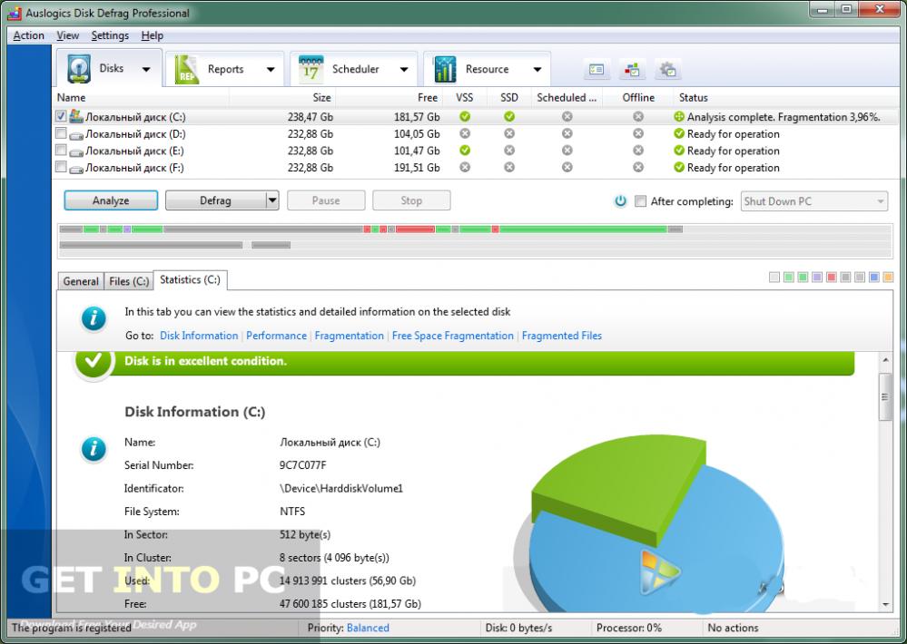Auslogics Disk Defrag Pro Offline Installer Download