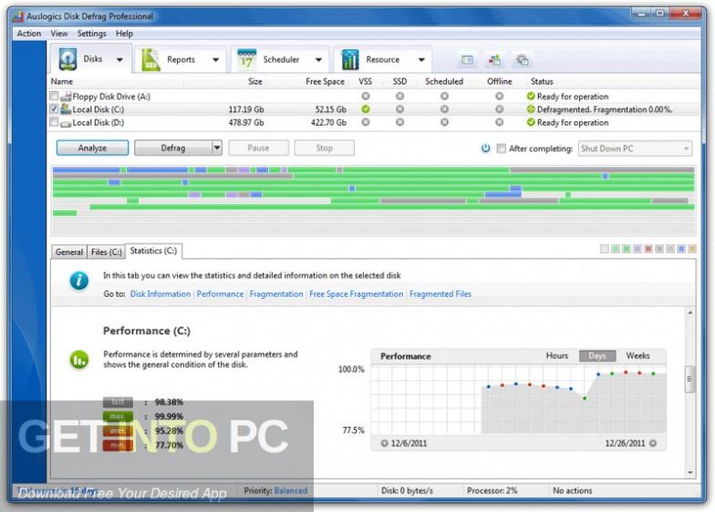 Auslogics Disk Defrag Professional Latest Version Download-GetintoPC.com