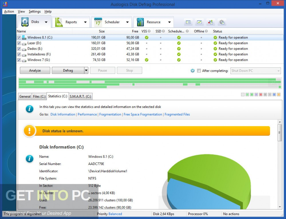 Auslogics Disk Defrag Professional Offline Installer Download-GetintoPC.com