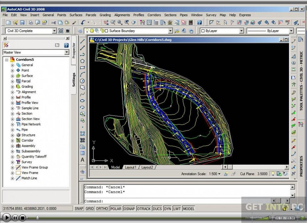 Autodesk AutoCAD Civil 3D 2008 Direct Link Download