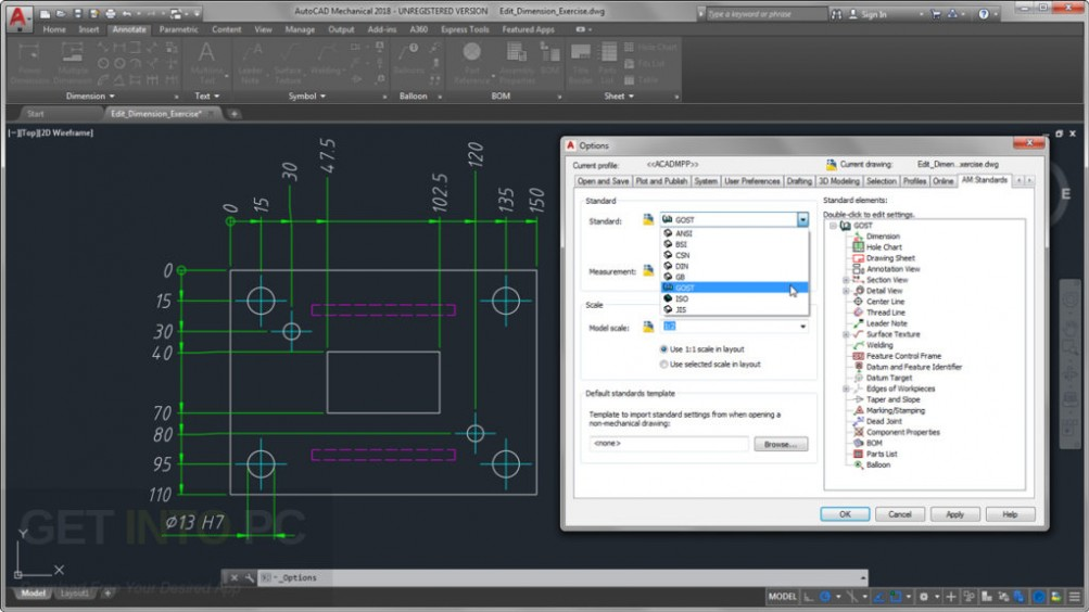Autodesk AutoCAD Mechanical 2018 Direct Link Download
