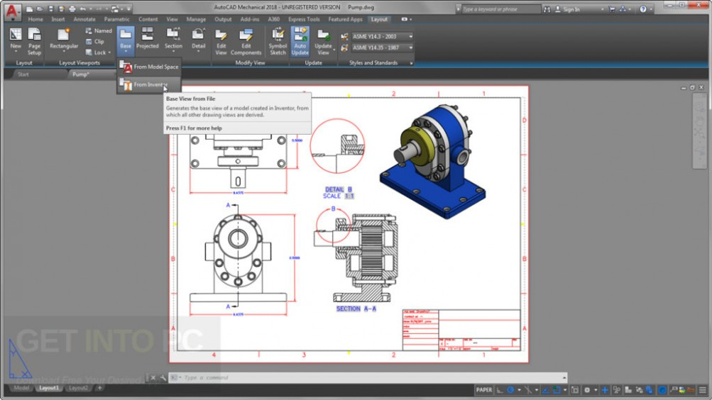 Autodesk AutoCAD Mechanical 2018 Latest Version Download