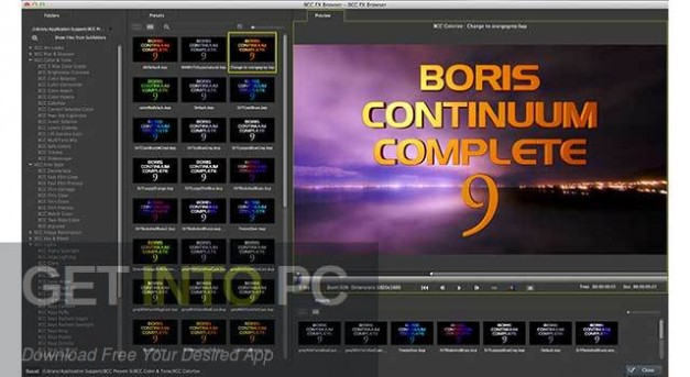 BCC Boris Continuum Complete 9 Plugins for Sony Vegas Pro Latest Version Download-GetintoPC.com