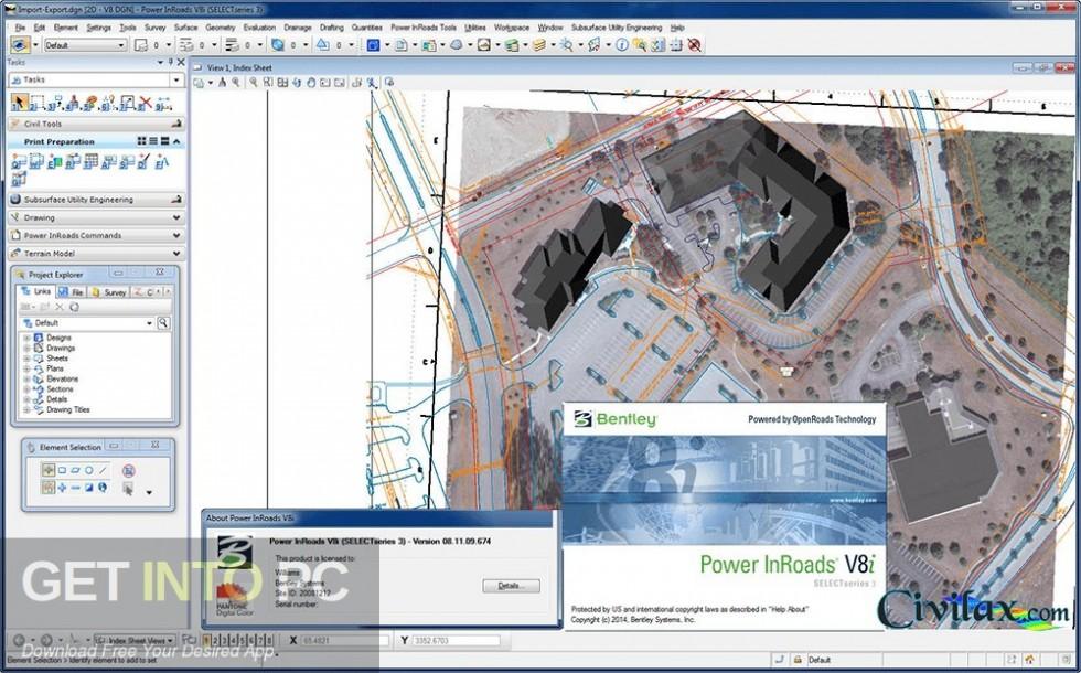 Bentley Power InRoads Direct Link Download-GetintoPC.com