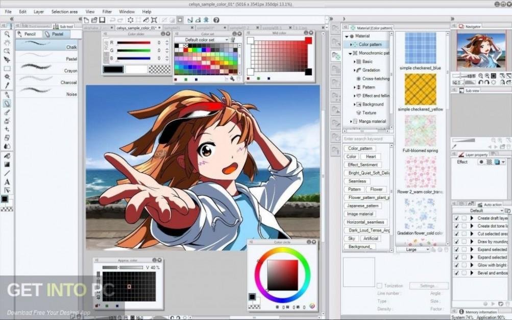 Clip Studio Paint 1.7.8 + Materials Offline Installer Download-GetintoPC.com