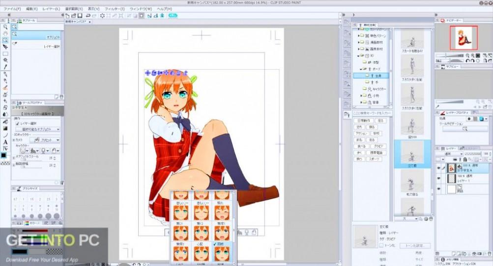 Clip Studio Paint EX 1.8.4 + Materials Latest Version Download-GetintoPC.com
