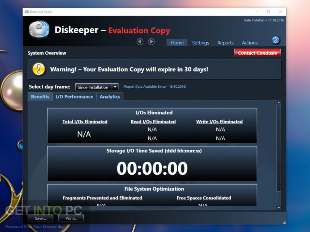 Condusiv Diskeeper 18 Professional Server Latest Version Download-GetintoPC.com