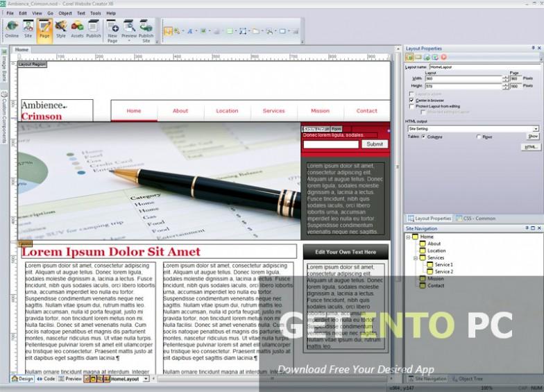 Corel Website Creator Offline Installer Download