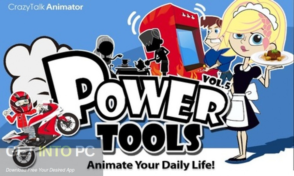 Crazytalk Animator Power Tools and Cartoon Solution Packs Bundle Free Download-GetintoPC.com