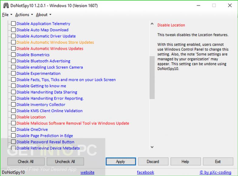 DoNotSpy10 3.0 Latest Version Download