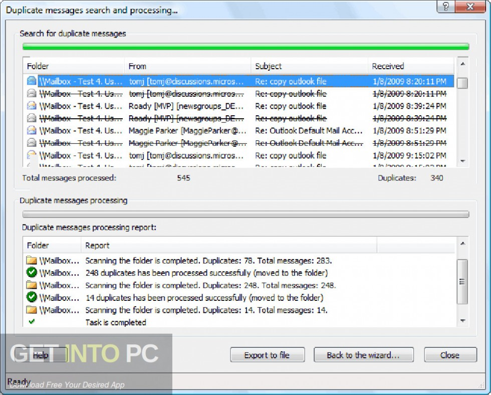 Duplicate Email Remover for Outlook Offline Installer Download-GetintoPC.com