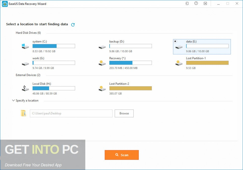 EaseUS Data Recovery Wizard 12 Direct Link DOwnload-GetintoPC.com