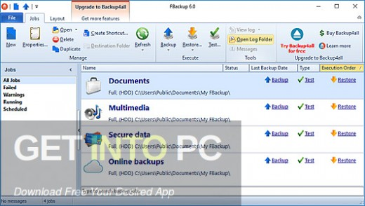 FBackup 7.4 Free Download