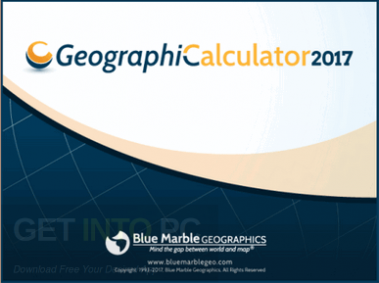 Geographic Calculator 2017 Free Download