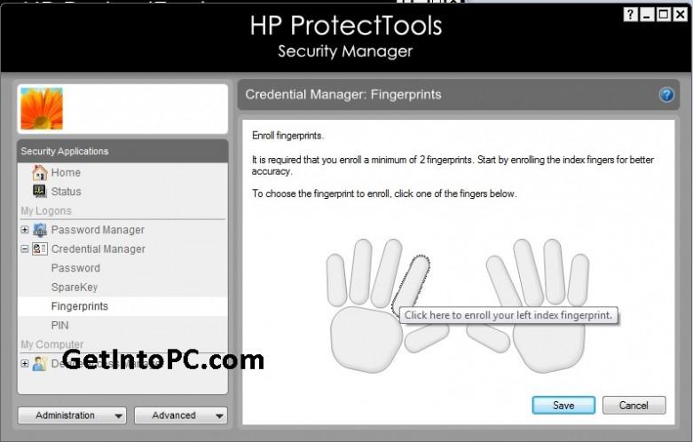 setp fingerprint password on hp probook laptop