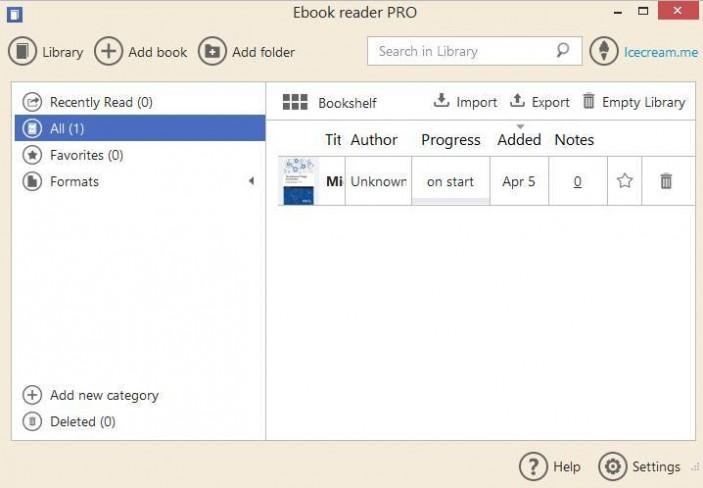 Icecream Ebook Reader Pro 5.12 Offline Installer Download
