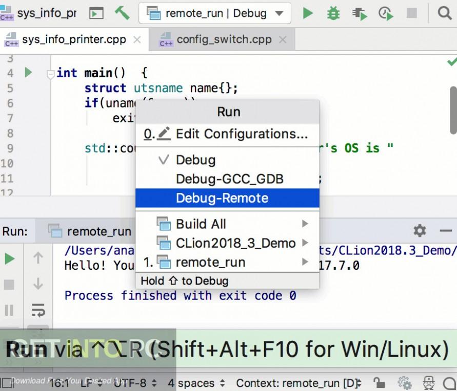 JetBrains CLion 2018 for Linux Latest Version Download-GetintoPC.com