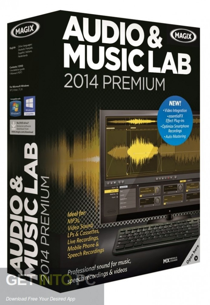 MAGIX Audio Music Lab 2014 Premium Free Download-GetintoPC.com