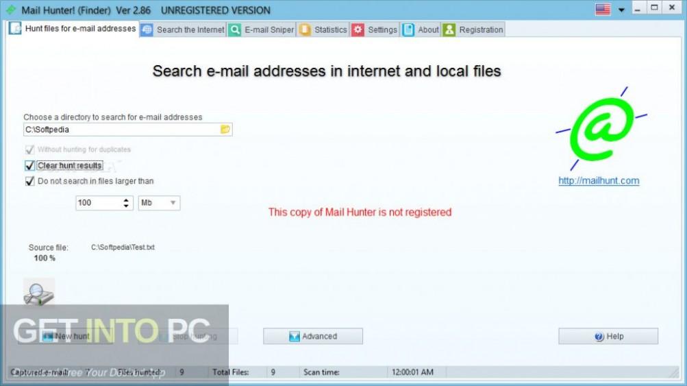 Mail Hunter Direct Link Download-GetintoPC.com