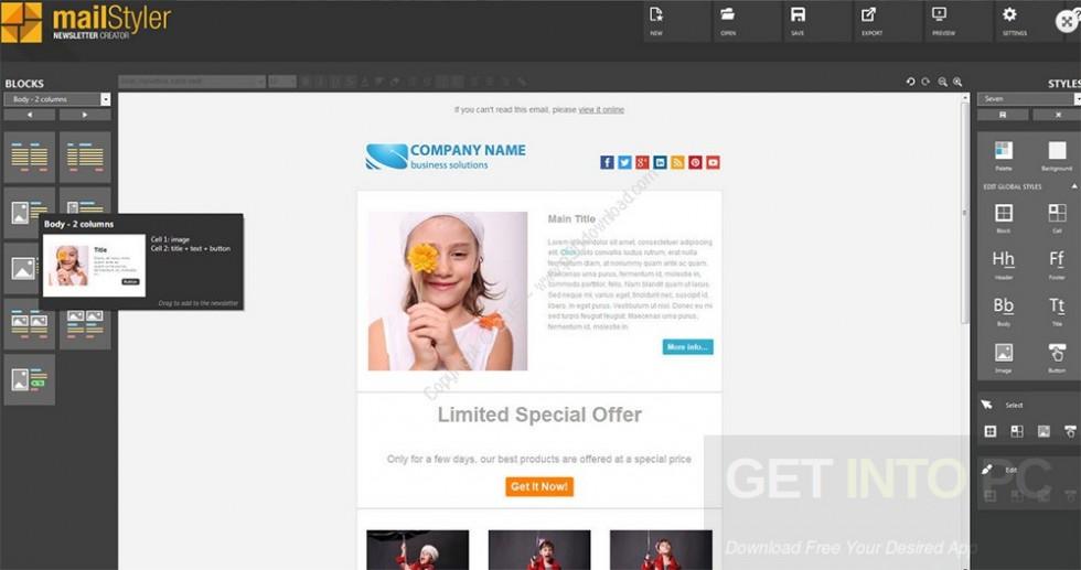MailStyler Newsletter Creator Pro v2 Offline Installer Download