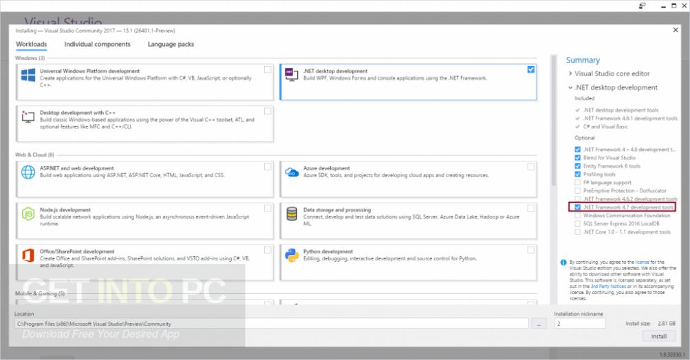 Microsoft .NET Framework 4.7 Offline Installer Download