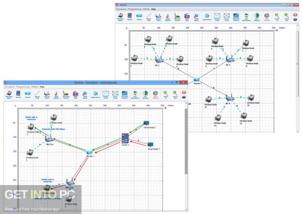NetSim Network Simulator Direct Link Download-GetintoPC.com