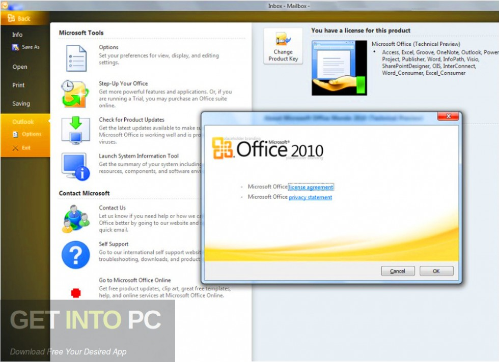 Office 2010 Professional Plus SP2 Updated July 2019 DIrect Link Download-GetintoPC.com