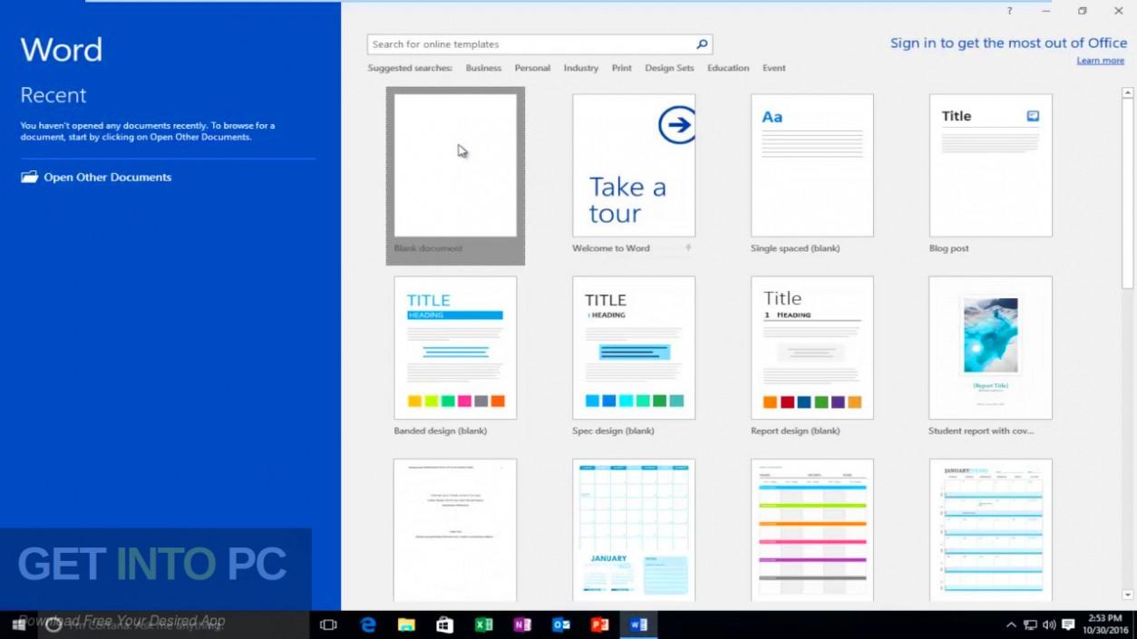 Office 2016 Professional Plus Updated Aug 2019 Offline Installer Download-GetintoPC.com