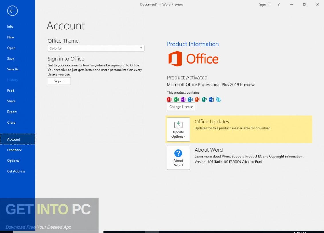 Office 2019 Professional Plus Updated June 2019 Direct Link Download-GetintoPC.com