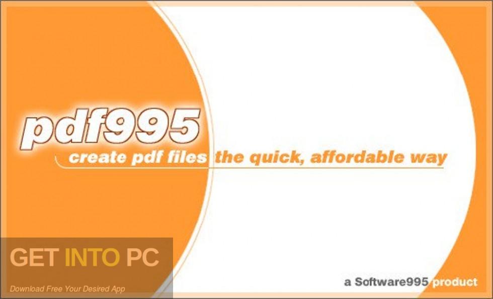Pdf995 Printer Driver Free Download-GetintoPC.com