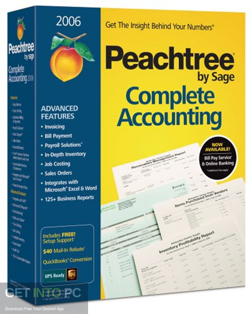 Peachtree Premium Accounting 2006 Free Download-GetintoPC.com