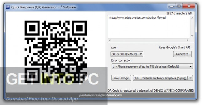 QR Code Generator Latest Version Download-GetintoPC.com