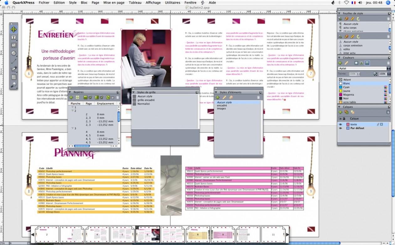 QuarkXpress Interface