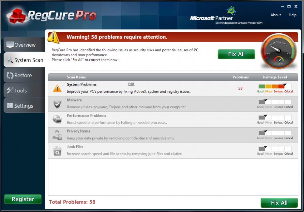 Download RegCure Pro Free