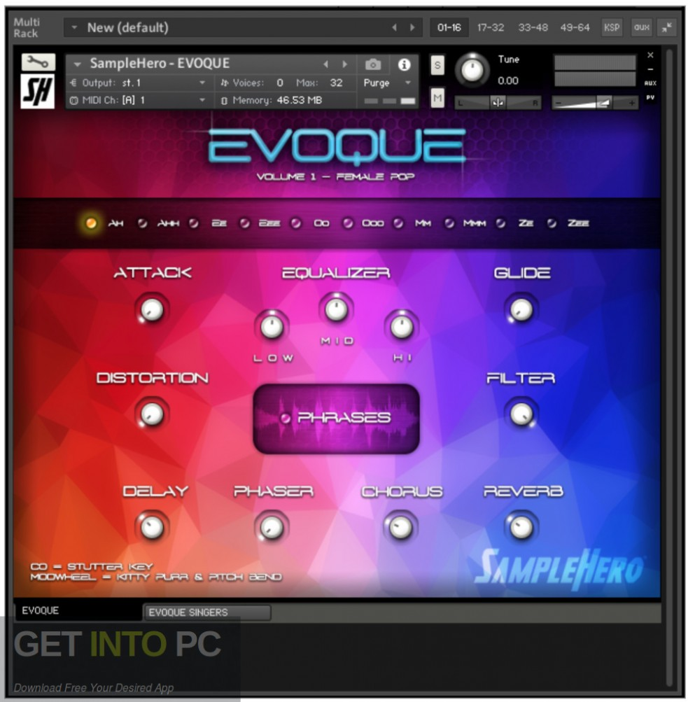SampleHero EVOQUE Vocal Synth KONTAKT Library Offline Installer Download-GetintoPC.com