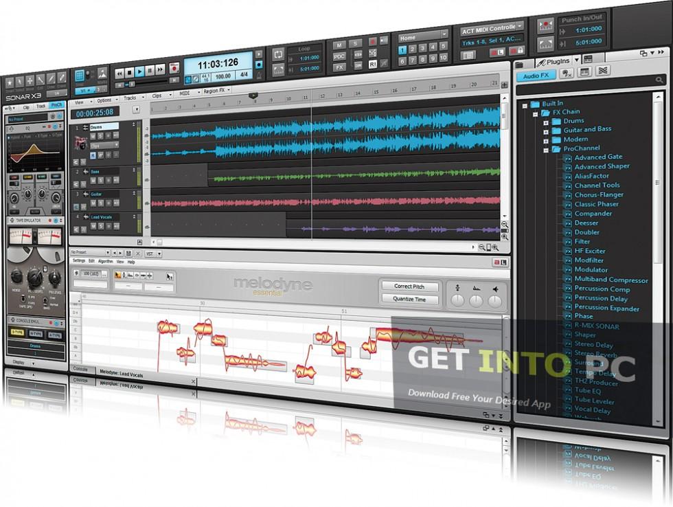 Cakewalk SONAR X3 Producer Edition offline installer