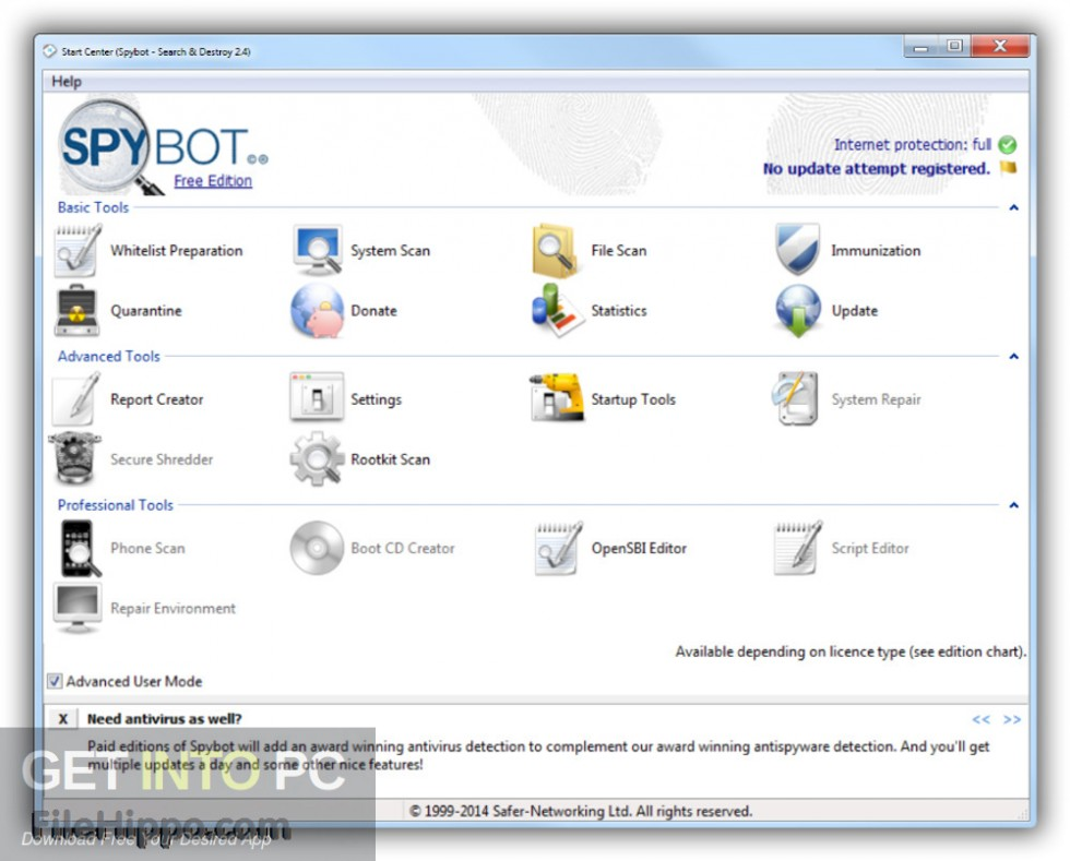 Spybot Search & Destroy Latest Version Download-GetintoPC.com