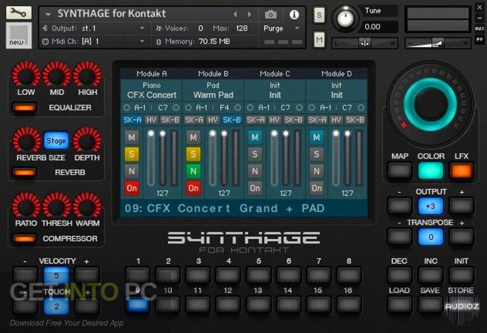 Synthage v1.1 KONTAKT Library Offline Installer Download-GetintoPC.com