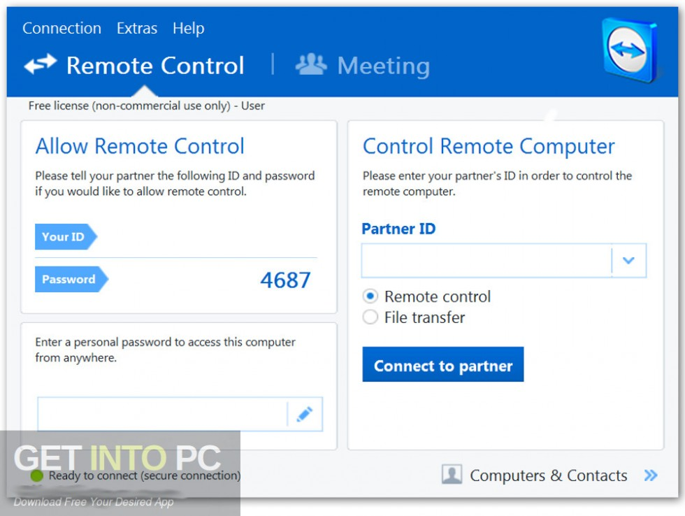 TeamViewer All Editions 13.0.6447 Latest Version Download-GetintoPC.com