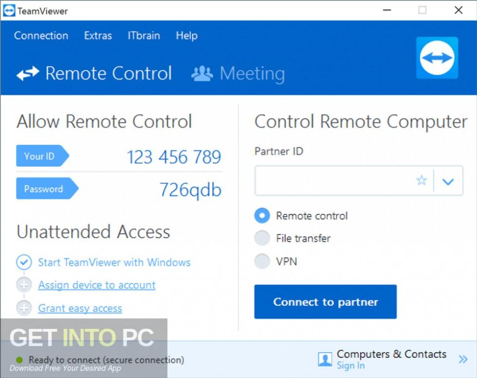 TeamViewer All Editions 13.0.6447 Offline Installer Download-GetintoPC.com