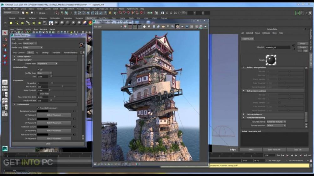 V-Ray For Maya 2015 Offline Installer DOwnload-GetintoPC.com