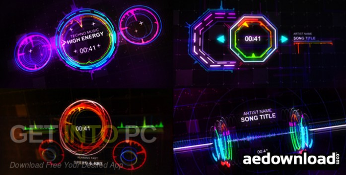 VideoHive Music Visualizer Kit for After Effects Offline Installer Download-GetintoPC.com